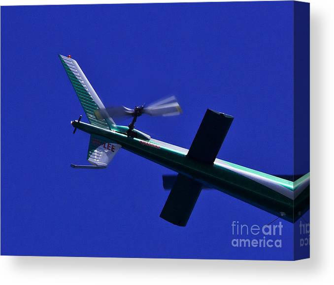 350 Vh-lee Canvas Print featuring the photograph Close Up Of Helicopter Vh Lee by Miroslava Jurcik