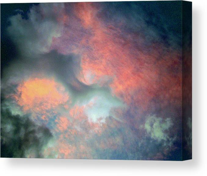 Photo Canvas Print featuring the photograph Cloud Abstract 2 by Michael Durst
