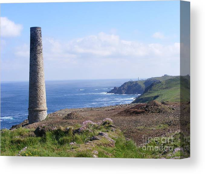 Landscape Canvas Print featuring the photograph Cornish Mine by Alexia Miles