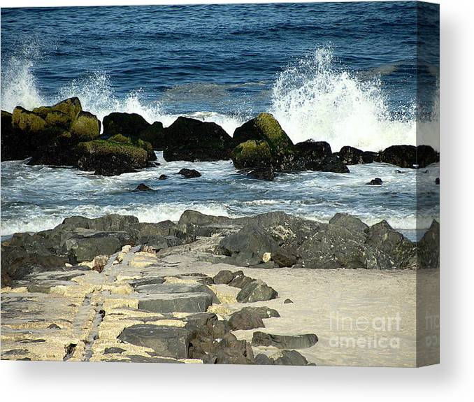 Waves Canvas Print featuring the photograph Crashing Waves by Colleen Kammerer
