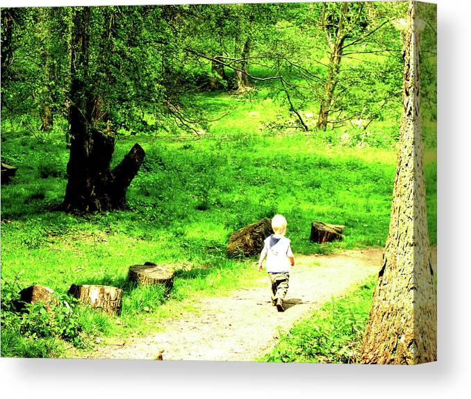 Child Canvas Print featuring the photograph Curious by Martin Williams