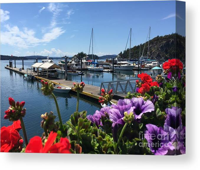 Deer Harbor Canvas Print featuring the photograph Deer Harbor By Day by William Wyckoff