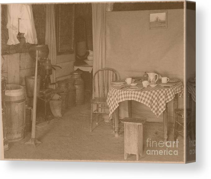 Tables Canvas Print featuring the photograph Dinner Time by Charles Robinson