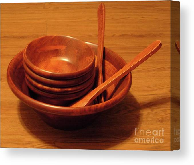 Bowls Canvas Print featuring the photograph Dinner Time by Jason Birdsong