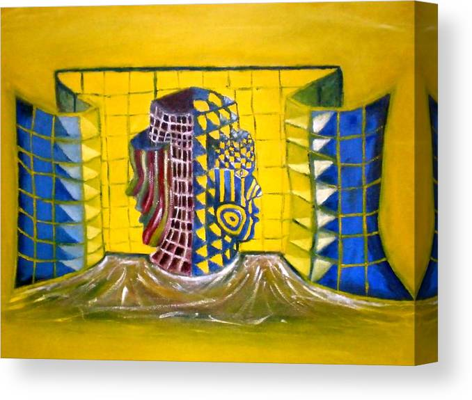 Diversity Canvas Print featuring the painting Diversity by Philip Okoro