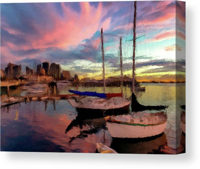 Bay Canvas Print featuring the photograph Dock Of The Bay by David Dehner