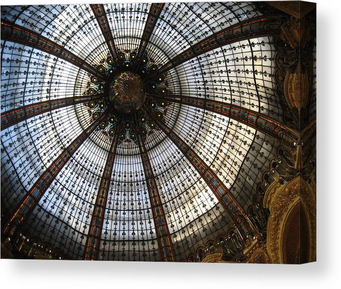Paris Canvas Print featuring the photograph Dome Of The Galleries Lafayette by Victoria Heryet