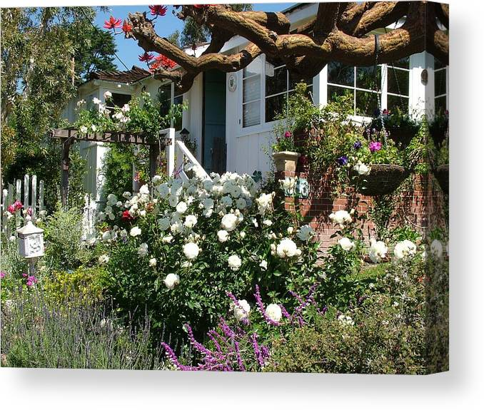 Cottage Canvas Print featuring the photograph Dream Cottage In Laguna by John Loyd Rushing