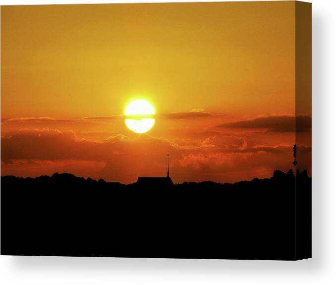 Sunset Canvas Print featuring the photograph Easter Evening by Adele Moscaritolo