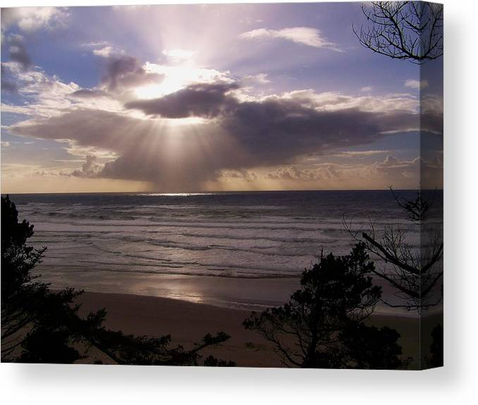 Cloud Canvas Print featuring the photograph Explosion Of Light by Angi Parks