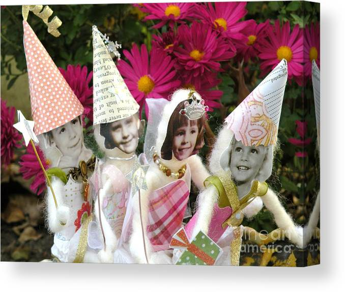 Fairy Canvas Print featuring the photograph Fabulous Fairies by Christine Belt