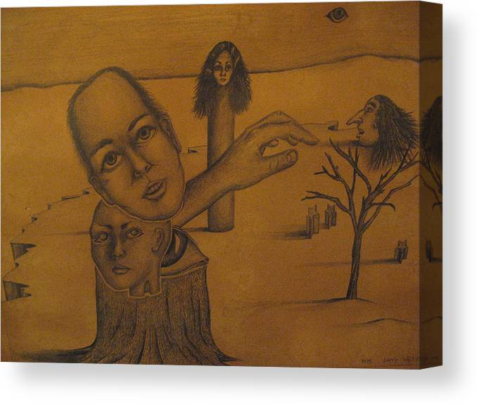 Family Canvas Print featuring the drawing Family Tree by Larry Whitler