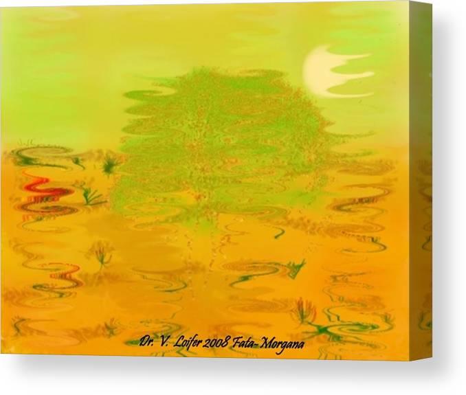 Illusions Canvas Print featuring the digital art Fata-morgana by Dr Loifer Vladimir
