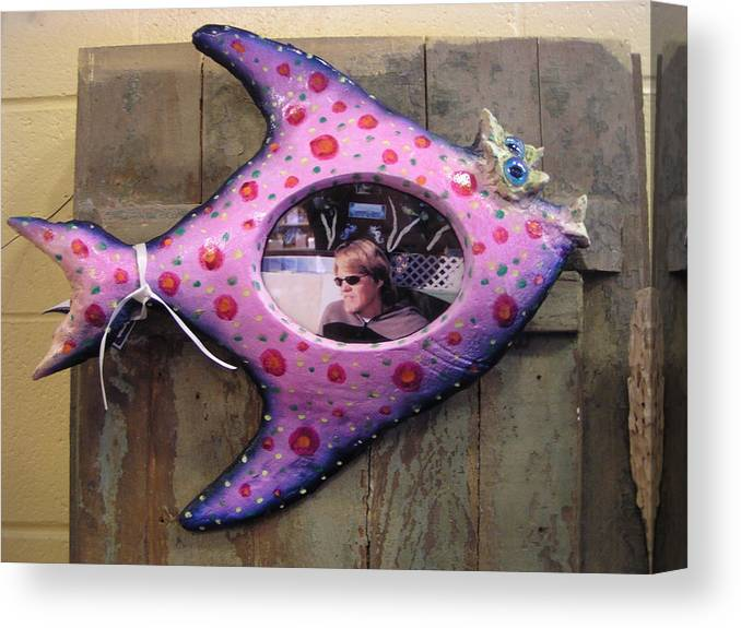 Frame Canvas Print featuring the sculpture Fish Frame Sold by Dan Townsend