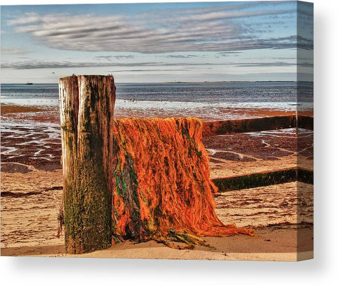 Seascape Canvas Print featuring the photograph Fishing Nets In Province Town by Linda Pulvermacher