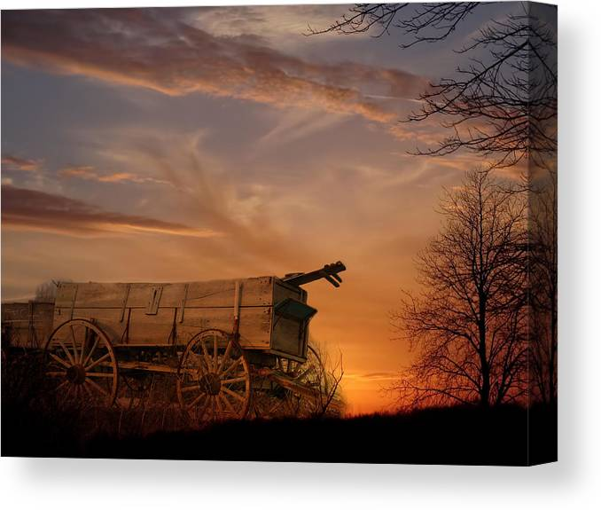 Wagon Canvas Print featuring the photograph Flashback by Theresa Campbell