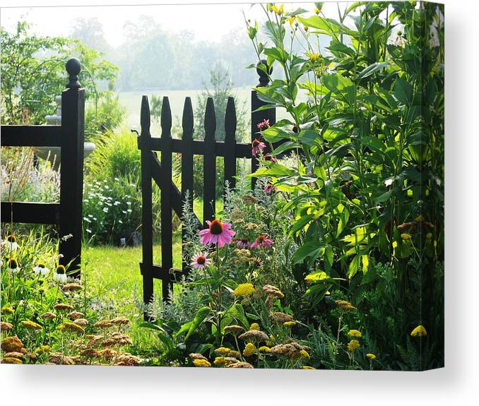 Gates Canvas Print featuring the photograph Flower Gate by Joyce Kimble Smith