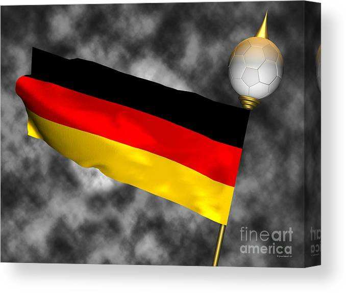 Fifa Canvas Print featuring the photograph Football World Cup Cheer Series - Germany by Ganesh Barad