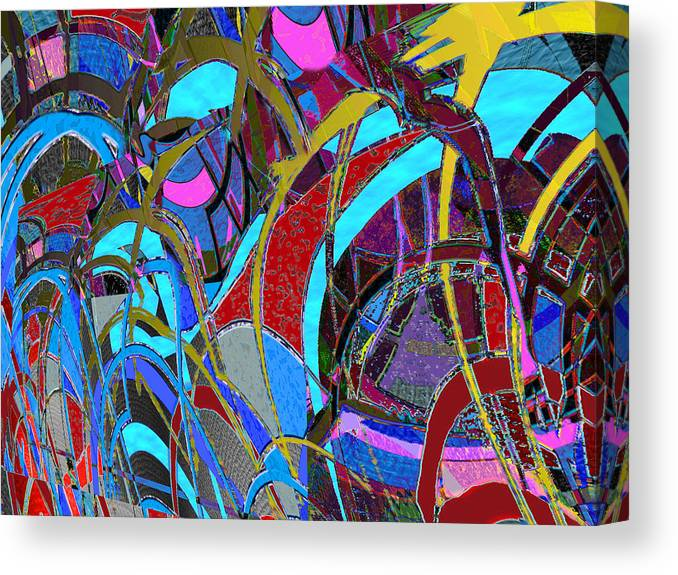 Conceptional Canvas Print featuring the painting Frisk by Anne Weirich
