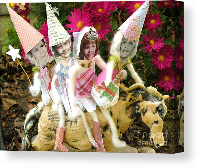 Fairy Canvas Print featuring the photograph Frontier Faries by Christine Belt