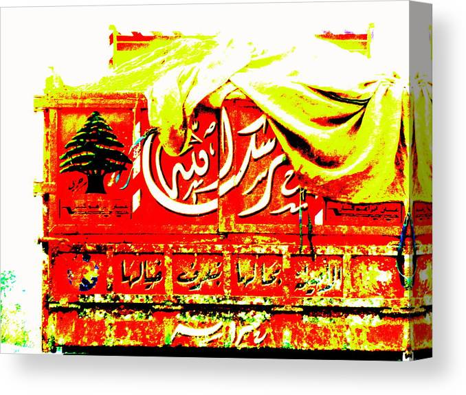 Lebanon Canvas Print featuring the photograph Funky Lebanese Truck by Funkpix Photo Hunter