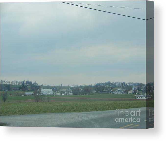 Amish Canvas Print featuring the photograph Gazing At A Scenic Amish Vista by Christine Clark