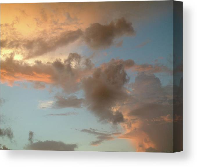 Cloud Canvas Print featuring the photograph Gentle Clouds Gentle Light by David Bader