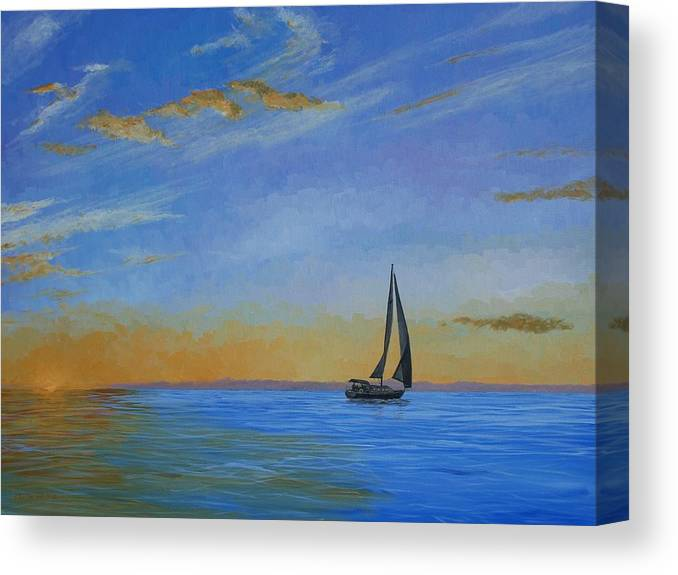Sail Canvas Print featuring the painting Going Home by Keith Wilkie