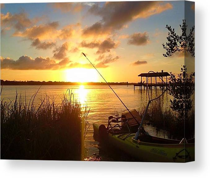 Fishing Canvas Print featuring the photograph Gone Fishing by Jonathan Troia