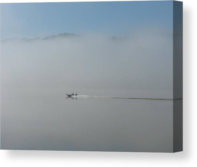 River Canvas Print featuring the photograph Gone Fishing by Martie DAndrea