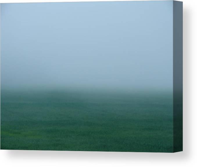 Landscape Canvas Print featuring the photograph Green Mist Wonder by Carrie Godwin