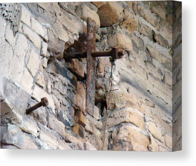 Cross Canvas Print featuring the photograph Gristmill Cross One by Ana Villaronga