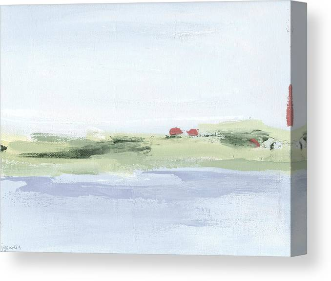 Landscape Canvas Print featuring the painting Happy In Hingham Lighter by Jacquie Gouveia