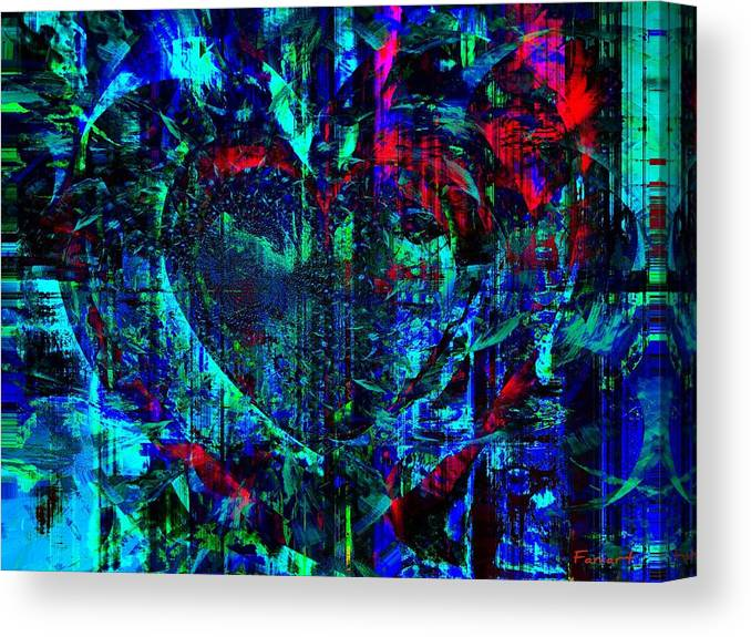 Faniart Canvas Print featuring the painting Heart Potential by Fania Simon