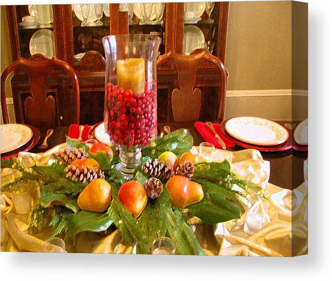 Dining Canvas Print featuring the photograph Holiday by Michael Morrison