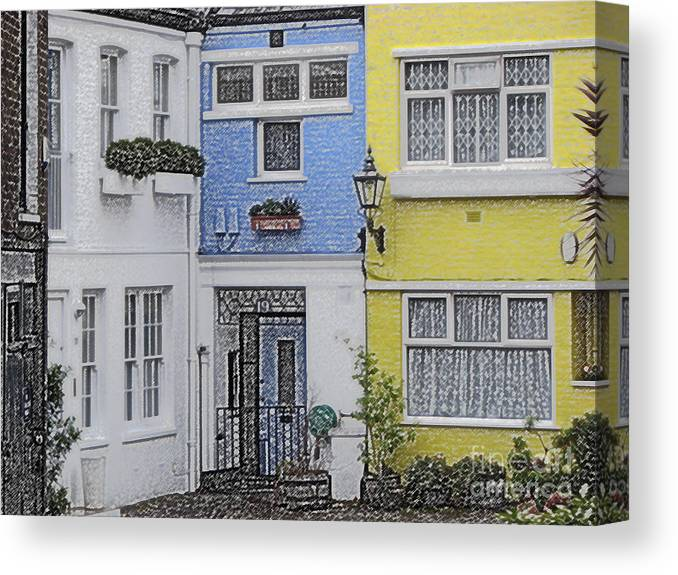 House Canvas Print featuring the photograph Houses by Amanda Barcon