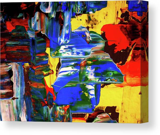 Abstract Canvas Print featuring the painting Hurricane...detail by Adolfo hector Penas alvarado