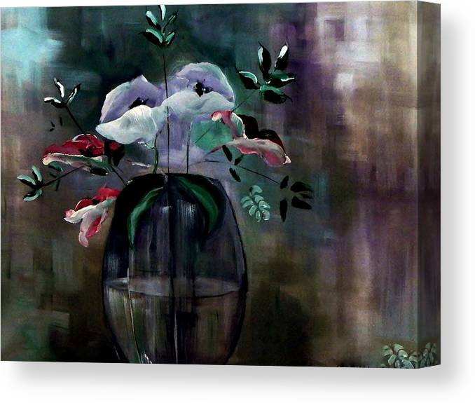 Painterly Canvas Print featuring the painting Impatient Painterly Floral by Lisa Kaiser