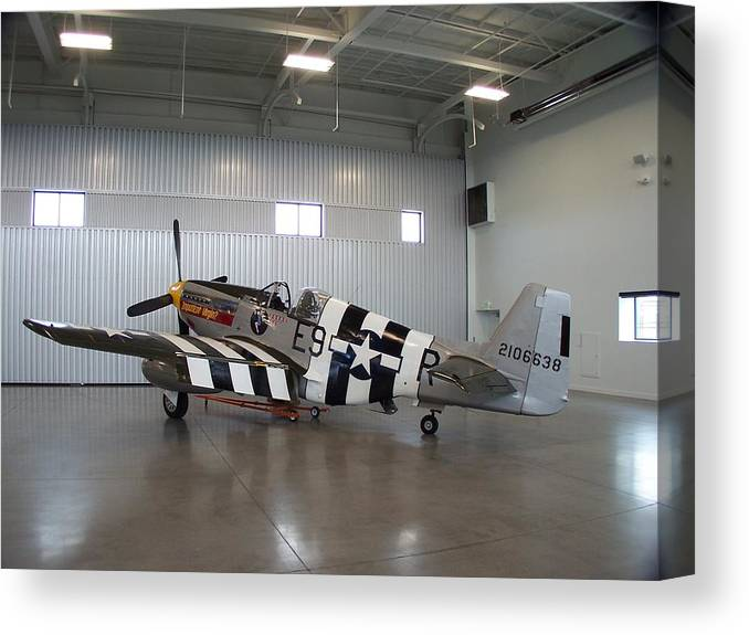 P-51 Canvas Print featuring the photograph Impatient Virgin Hangered by Gene Ritchhart