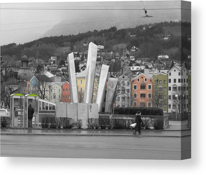 Abstract Canvas Print featuring the photograph Innsbruck Art by Dylan Punke