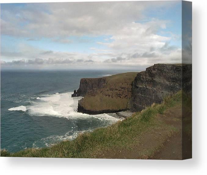 Travel Canvas Print featuring the photograph Irish Coast by William Thomas