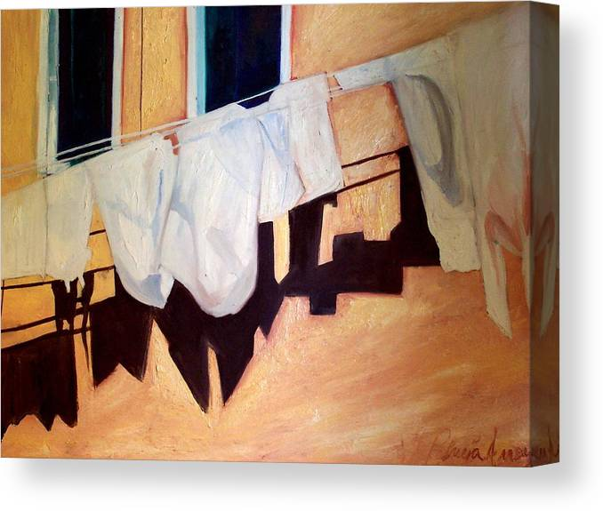 Canvas Print featuring the painting Italian Wash by Patricia Arroyo