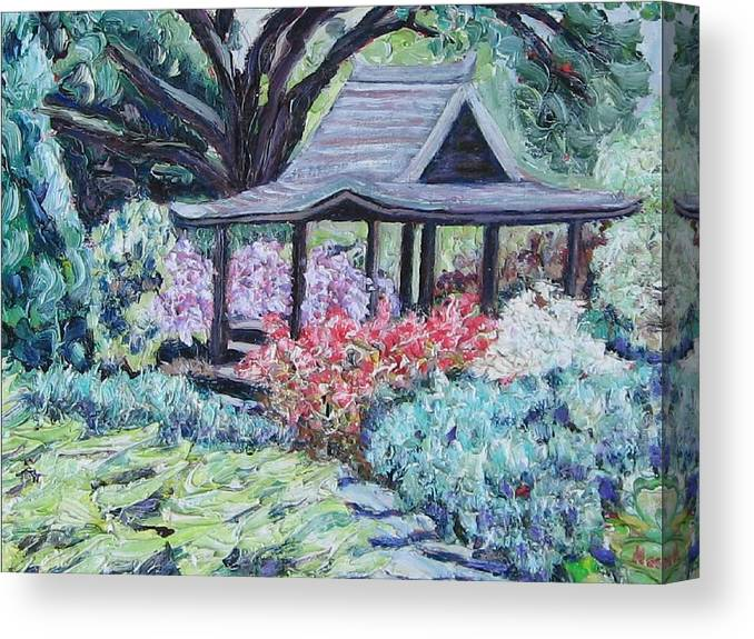 Garden Canvas Print featuring the painting Japanese Garden by Richard Nowak