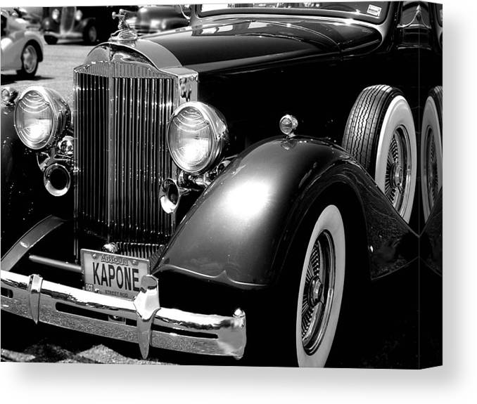Car Canvas Print featuring the photograph Kapone by Audrey Venute