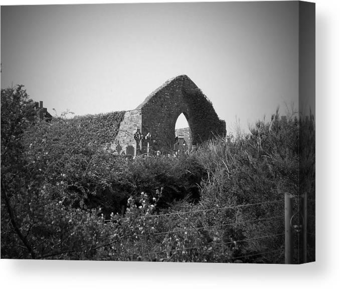Irish Canvas Print featuring the photograph Kilmanaheen Church Ruins Ennistymon Ireland by Teresa Mucha