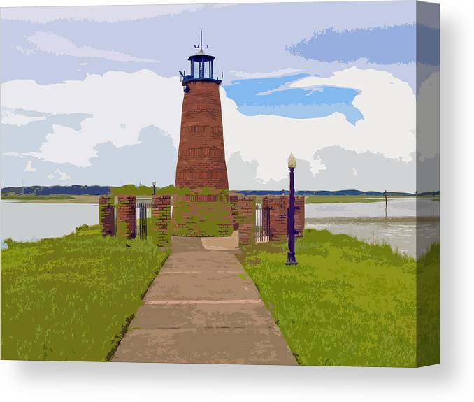 Kissimmee Canvas Print featuring the painting Kissimmee Lighthouse by Allan Hughes