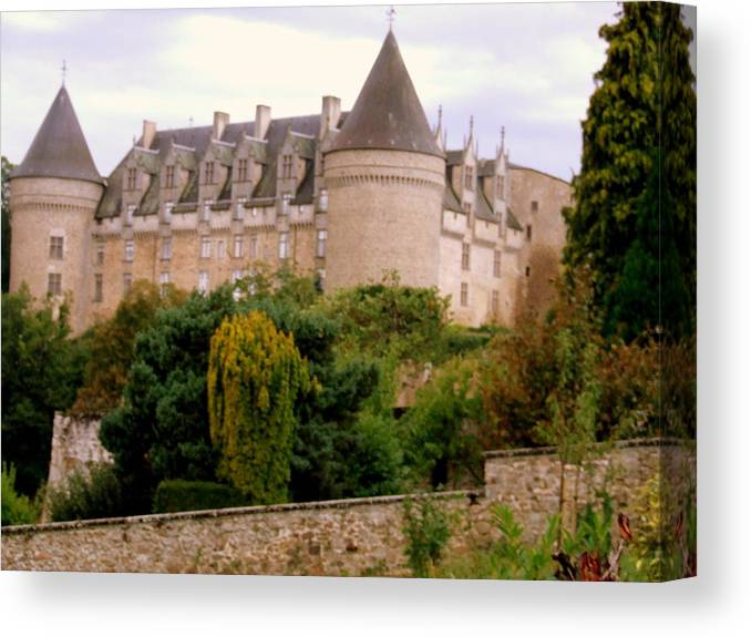 Canvas Print featuring the photograph Le Chateau De Rochechouart by Rusty Gladdish