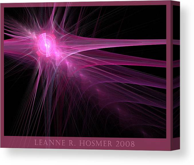 Abstract Canvas Print featuring the digital art Lh18 by LeAnne Hosmer