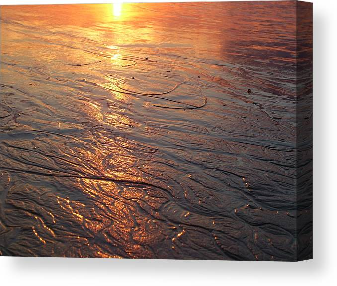 Light Canvas Print featuring the photograph Light Waves by John Loyd Rushing
