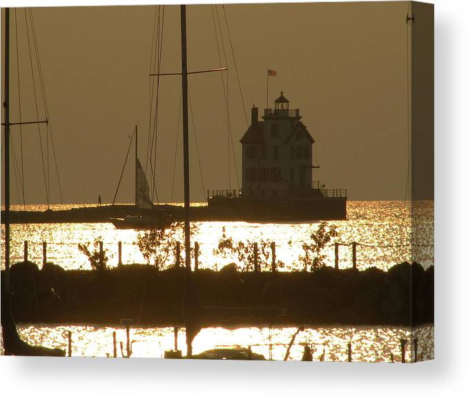 Canvas Print featuring the photograph Lighthouse by Trisha Dahm